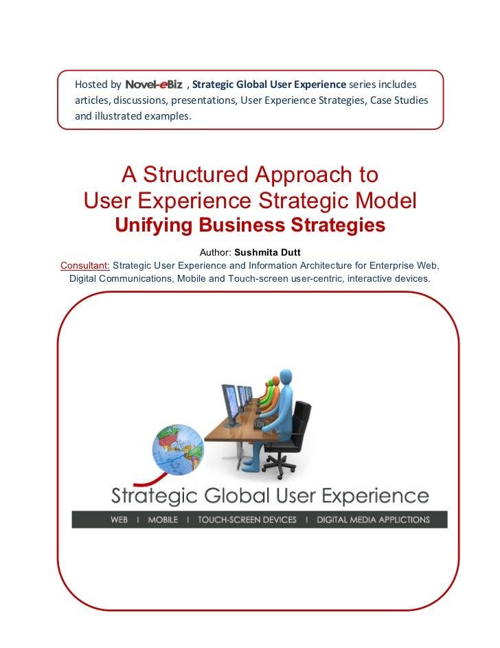 HostedbyNovel‐eBiz,StrategicGlobalUserExperience seriesincludes                              articles,discu...
