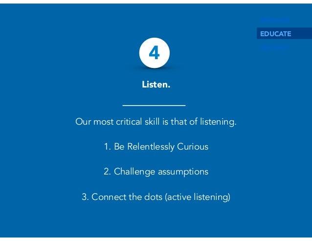 Advantages of critical listening