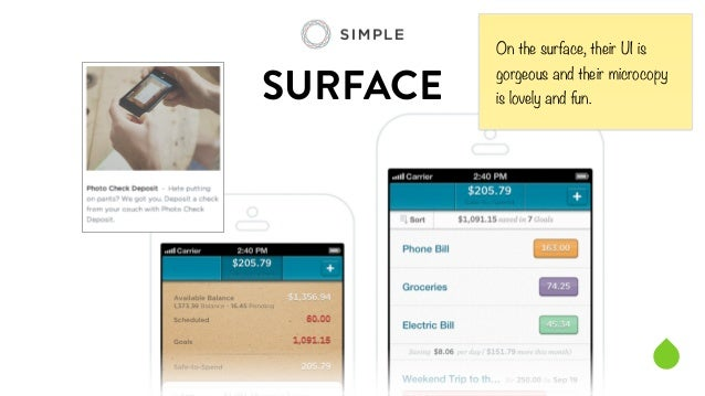 SURFACE  On the surface, their UI is  gorgeous and their microcopy  is lovely and fun.