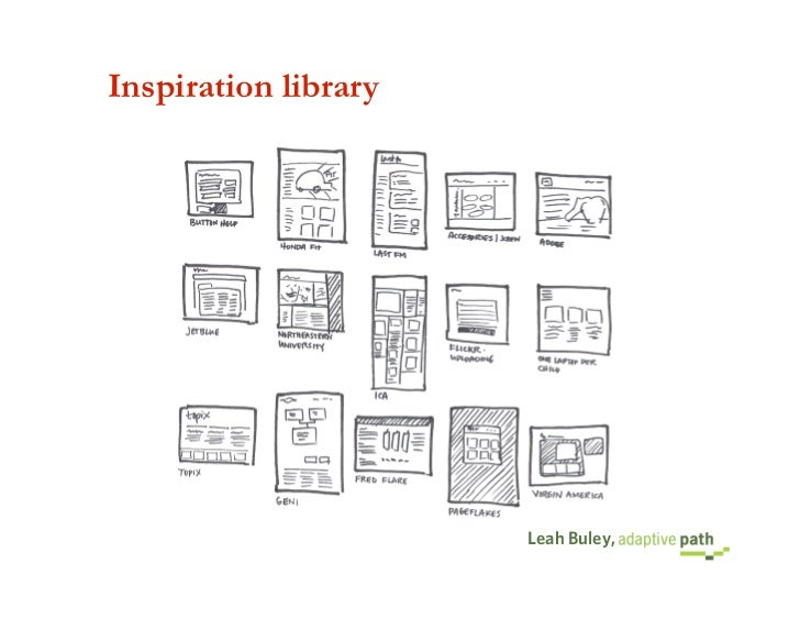 Inspiration library                           Leah Buley,