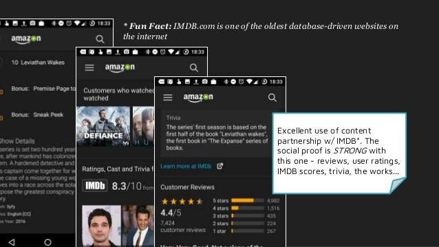 Ux teardown - Netflix, Hulu, Sling & Amazon Prime Video