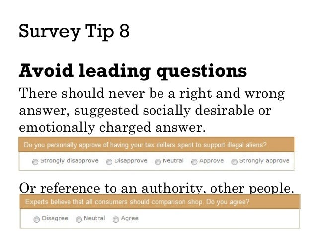 leading questions in surveys ux tips for surveys 3886