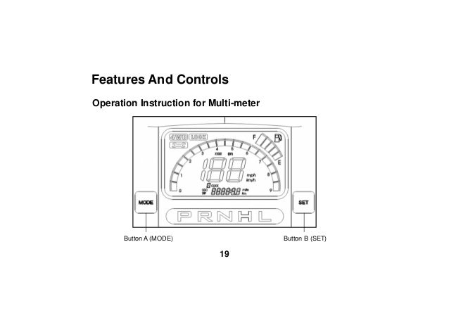 KWANG YANG MOTOR CO.,LTD UXV 450i 2015 Owner Manual