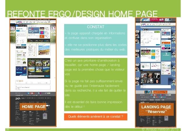 REFONTE ERGO/DESIGN HOME PAGE © Arnaud Petitbon 201538 HOME PAGE LANDING PAGE ''Réservez'' CONSTAT > la page apparaît char...