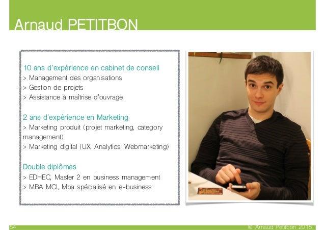 Arnaud PETITBON © Arnaud Petitbon 201554 10 ans d'expérience en cabinet de conseil > Management des organisations > Gestio...