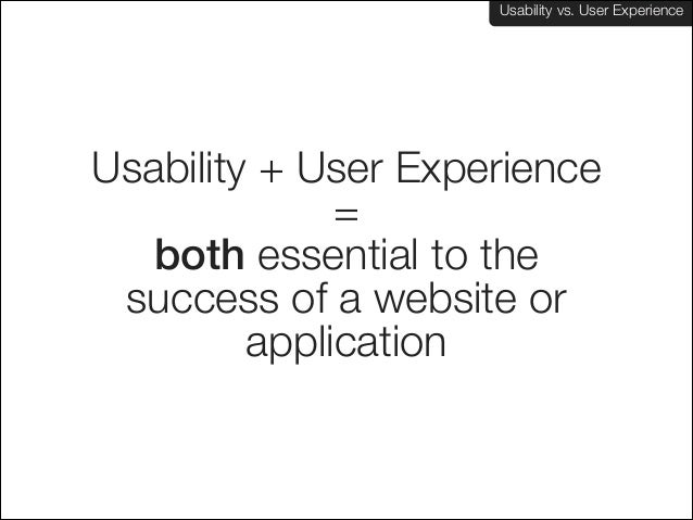 Usability vs. User Experience: What's the difference? Slide 3
