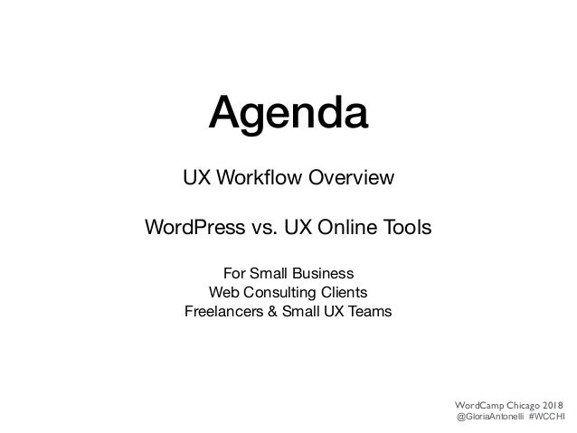 WordPress UX Workflow Slide 2