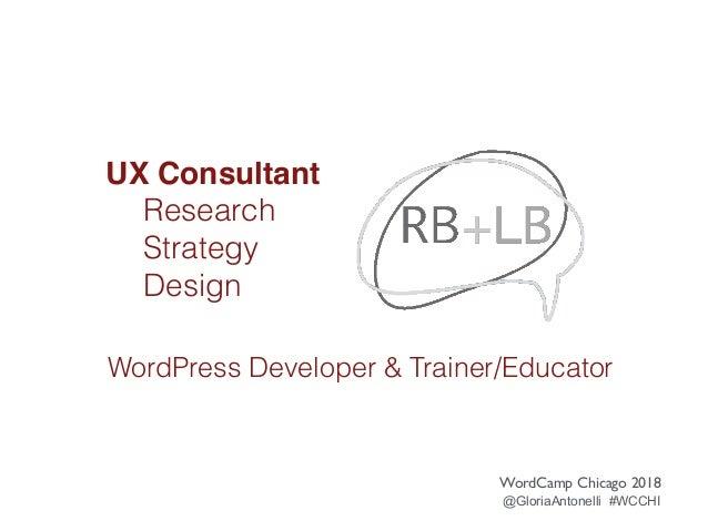 WordPress UX Workflow Slide 3