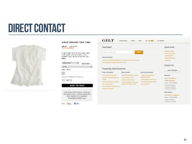 DIRECT CONTacT                 102