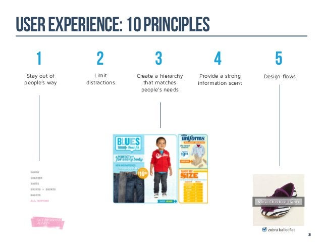 user experience: 10 principles    1               2                 3                   4                 5  Stay out of  ...