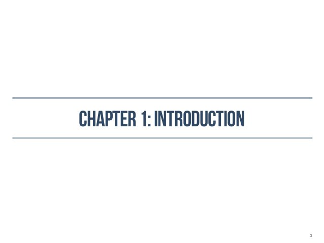 Chapter 1: introduction                          3