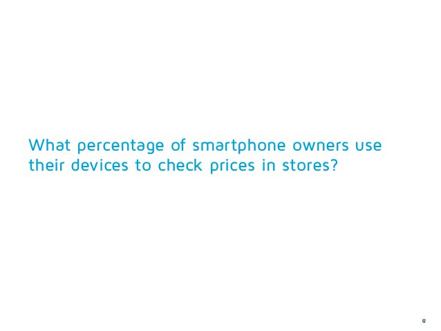 What percentage of smartphone owners usetheir devices to check prices in stores?                                          ...