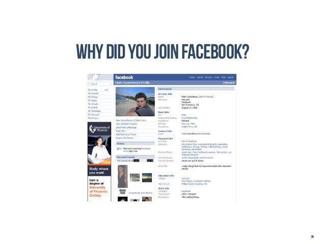 why did you join facebook?                             84