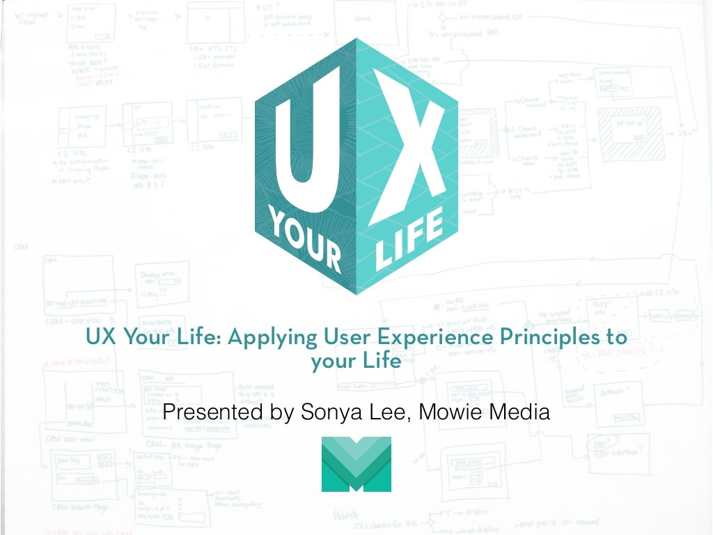 UX Your Life: Applying User Experience Principles to your Life