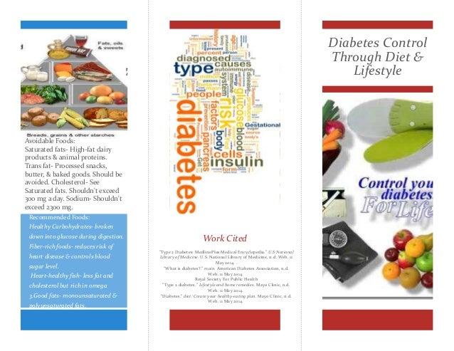 diabetic diet carbs brochure