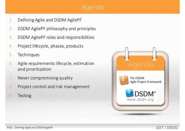 dsdm agile project framework pdf
