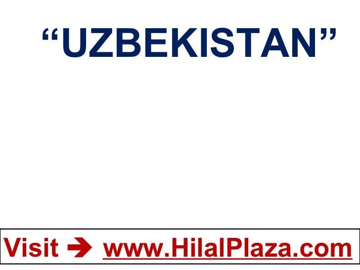 """"""" UZBEKISTAN"""""""