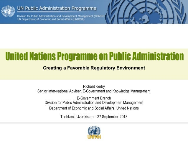Richard Kerby Senior Inter-regional Adviser, E-Government and Knowledge Management E-Government Branch Division for Public...