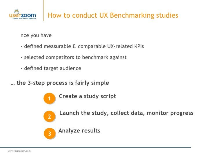 Once you have  -  defined measurable & comparable UX-related KPIs  - selected competitors to benchmark against - defined t...
