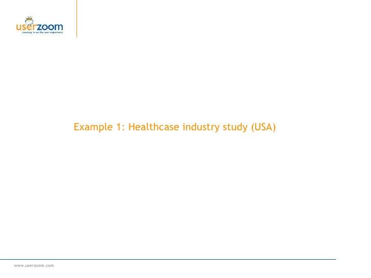 Example 1: Healthcase industry study (USA)