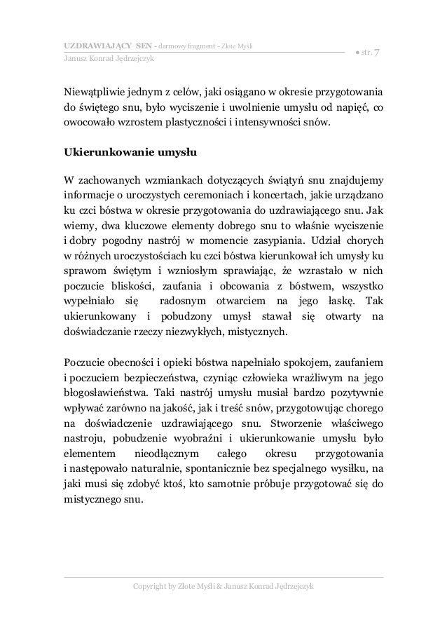 Uzdrawiający Sen Janusz Konrad Jędrzejczyk