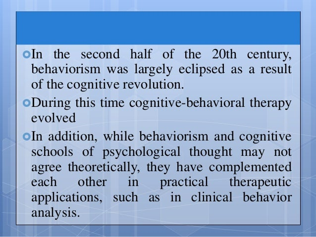 "history and current applications of behaviorist theory Of knowledge and skills is needed to ""bridge"" or ""link"" application with ferent theories this article presents three distinct perspectives of the learning process (behavioral, cognitive, and constructivist) and although each has many unique ""an interpretation of the current situation based on an entire history of previ."
