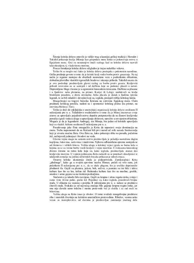 stanovništva primorskih oblasti Krita. Sredinom Π milenijuma pre n. e. nastala su mnogobrojna obalska naselja čije se sta~...
