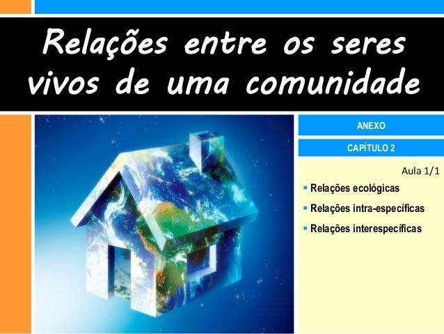Relações entre os seresvivos de uma comunidade                            ANEXO                          CAPÍTULO 2       ...