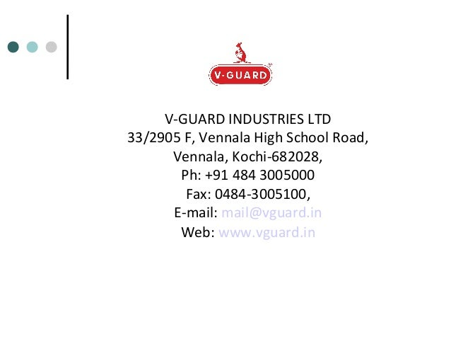 v guard industries Robin joy vp and cio at v guard industries limited location cochin area, india industry electrical/electronic manufacturing.
