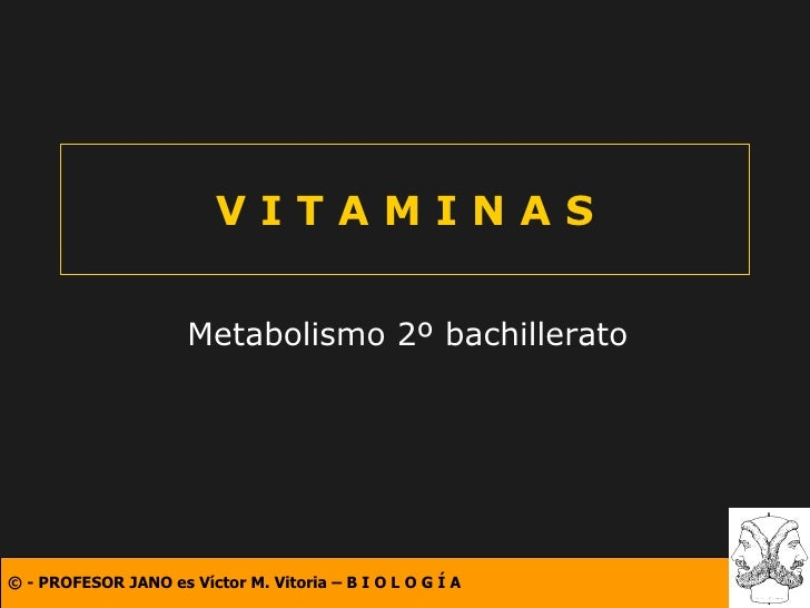 V I T A M I N A S Metabolismo 2º bachillerato