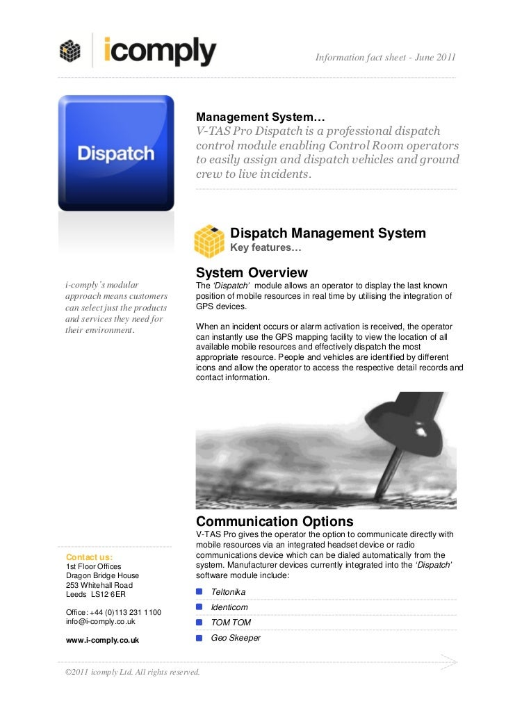 Information fact sheet - June 2011                                     Management System…                                 ...
