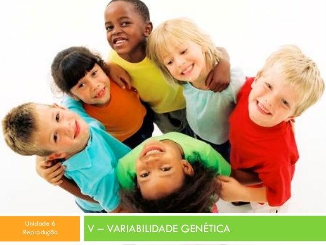 Unidade 6 Reprodução  V – VARIABILIDADE GENÉTICA