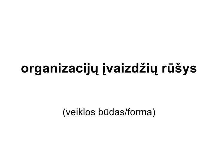 organizacijų įvaizdžių rūšys (veiklos būdas/forma)