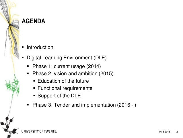 Vernieuwing van de digitale leeromgeving (DLO) - Frank Snels - HOlink2016 Slide 2