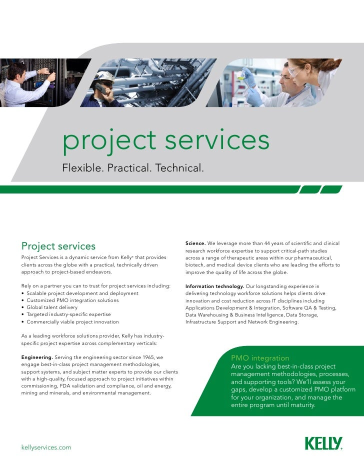project services                 Flexible. Practical. Technical.Project services                                          ...