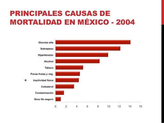 PRINCIPALES CAUSAS DE MORTALIDAD EN MÉXICO - 2004 *