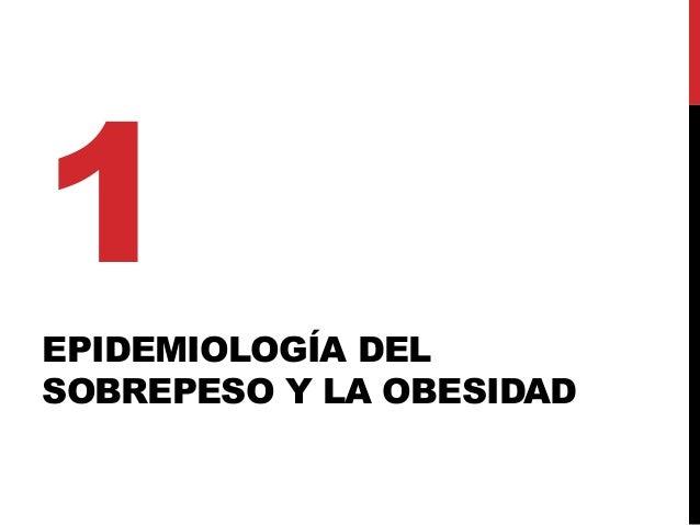 EPIDEMIOLOGÍA DEL SOBREPESO Y LA OBESIDAD 1