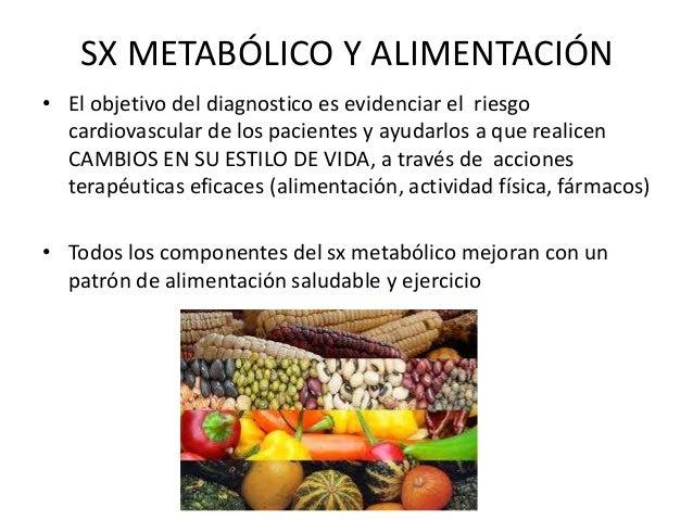 SX METABÓLICO Y ALIMENTACIÓN • El objetivo del diagnostico es evidenciar el riesgo cardiovascular de los pacientes y ayuda...
