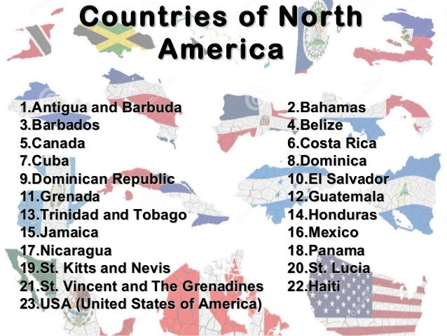 North America Ppt - What countries are in north america