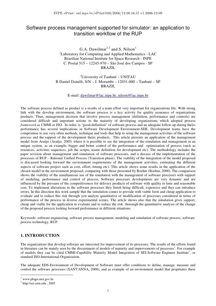 INPE ePrint: sid.inpe.br/ePrint@80/2006/12.08.16.57 v1 2006-12-09          Software process management supported for simul...