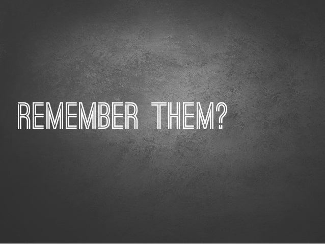 REMEMBER the information dj?