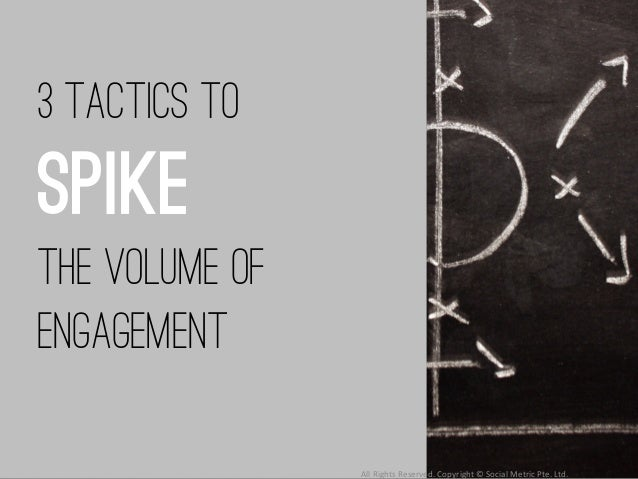 3 tactics to spike the volume of engagement All  Rights  Reserved.  Copyright  ©  Social  Metric  Pte.  Lt...