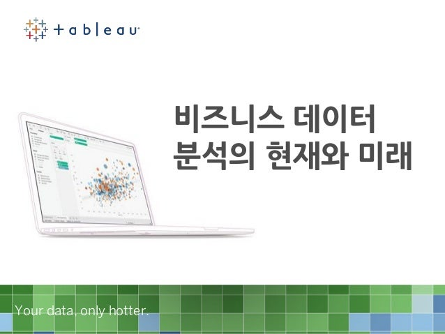 Your data, only hotter.Your data, only hotter. 비즈니스 데이터 분석의 현재와 미래