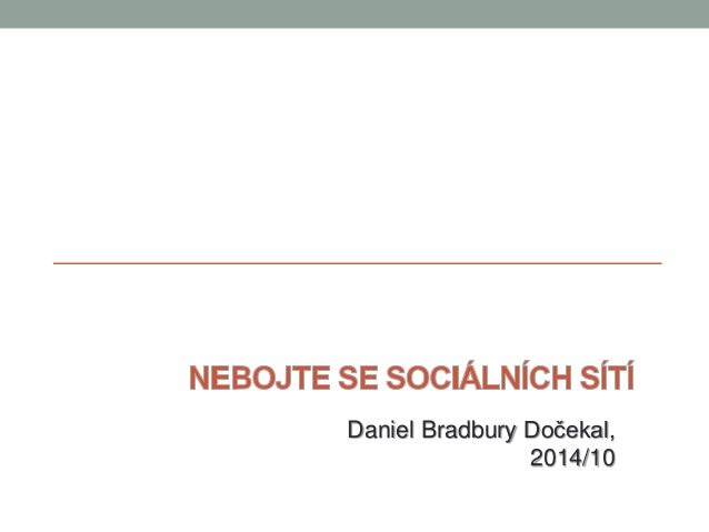 Daniel Bradbury Dočekal,  2014/10