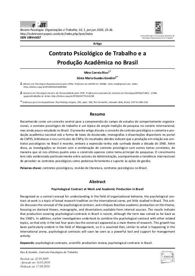 Revista Psicologia: Organizações e Trabalho, 10, 1, jan-jun 2010, 23-36. http://submission-pepsic.scielo.br/index.php/rpot...