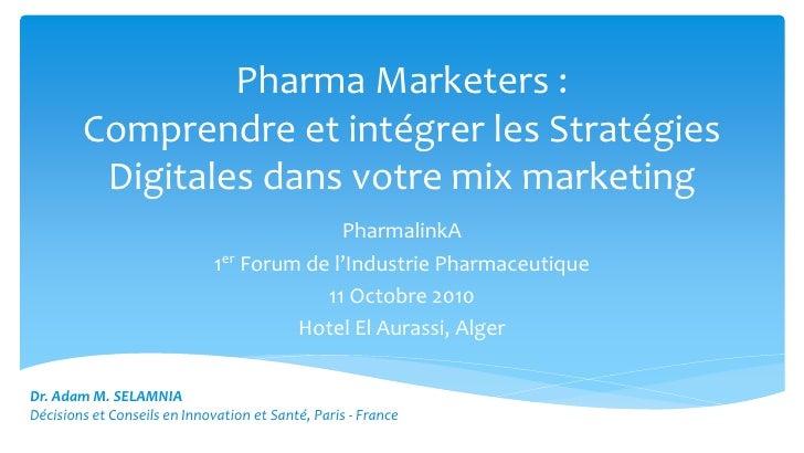 V10 nouvelles stratégies digitales de l'industrie pharmaceutique 111010