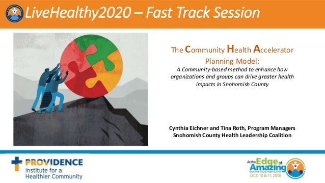 LiveHealthy2020 – Fast Track Session The Community Health Accelerator Planning Model: A Community-based method to enhance ...