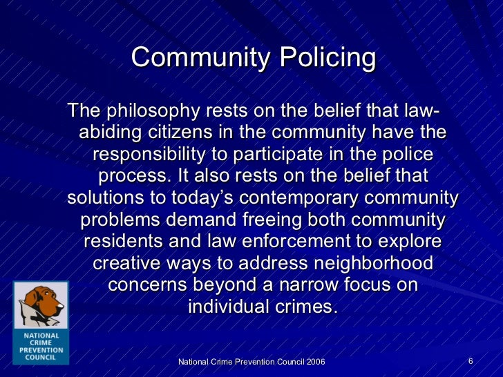 the entrance of community oriented policing in america The office of community oriented policing services (cops office) is a component within the us department of justice dedicated to community policing.