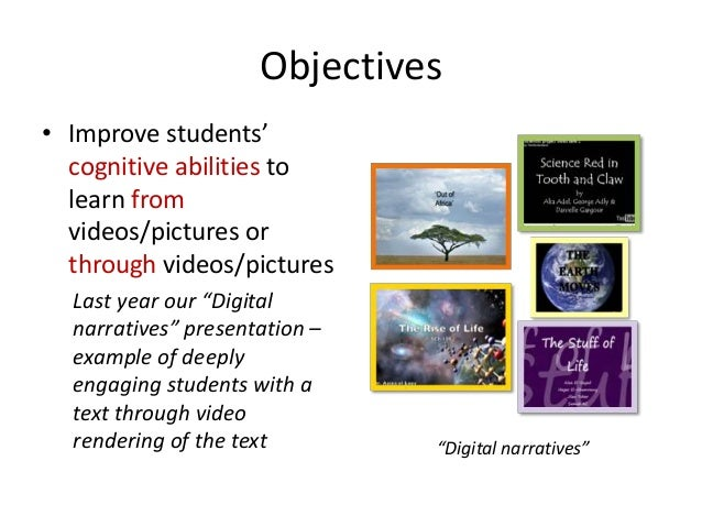 """Examples of learning activities withvideo and image annotations– Looking for logical fallacies in visual media *– The """"dig..."""