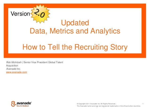 Version                            Updated                    Data, Metrics and Analytics              How to Tell the Rec...